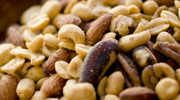Bowl of assorted nuts