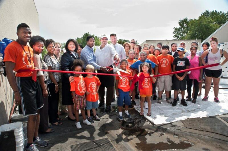 Ribbon Cutting Ceremony on the Aeroponic Rooftop Garden