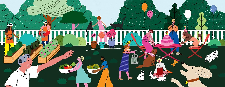 Pets Freebies, garden freebies, home freebies, illustration, aarp, girlfriend