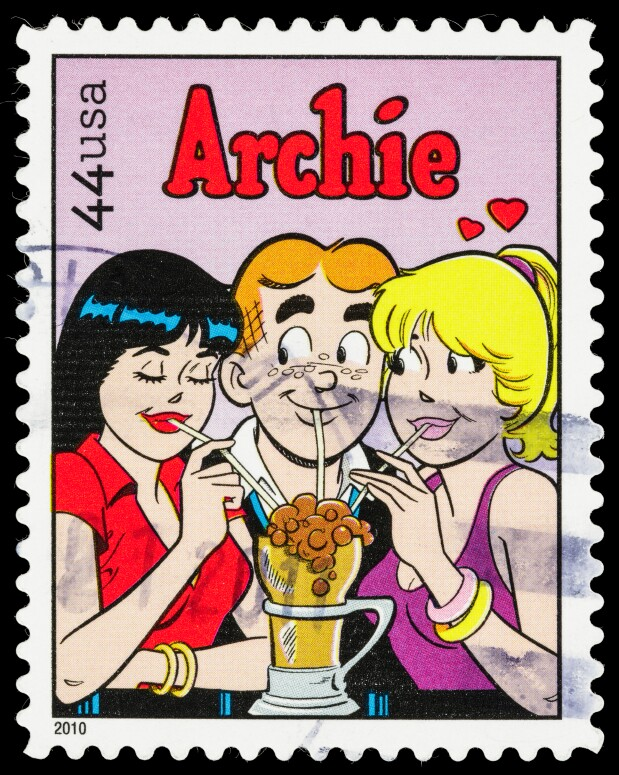 USA Archie comic postage stamp
