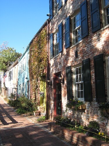 rowhouses on the canal