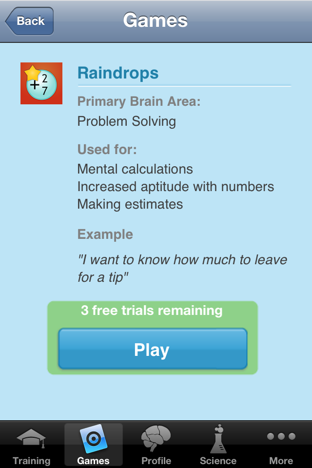 Brain trainer app can be a smart friend