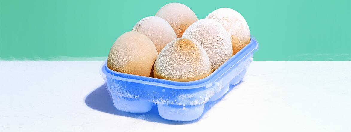 An image of six eggs in a carton.