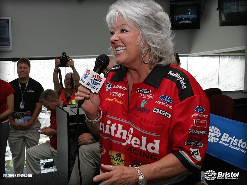 Paula Deen at Bristol Motor Speedway