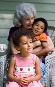 Grandchildren with Grandmother