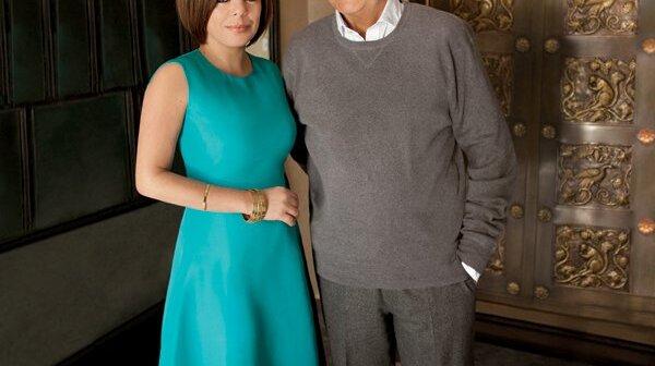 Gabriela Goddard with Carlos Fuentes, 2012