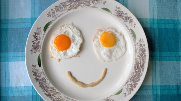 Fried eggs face
