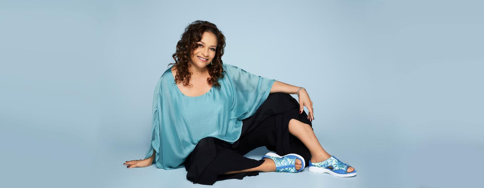 Debbie Allen ambassador to the Easy Spirit Live Your Best Life Now Campaign, is also a dancer and actor, who can be seen on Grey's Anatomy