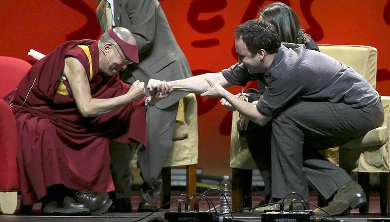 Dalai Lama Fist Bump