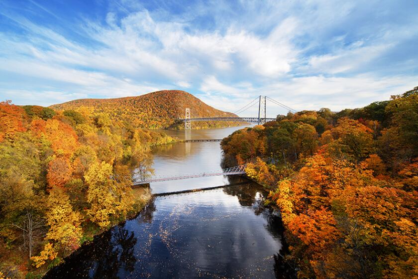 View of bridges in Bear Mountain State Park