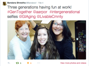 Twitter intergenerational selfies