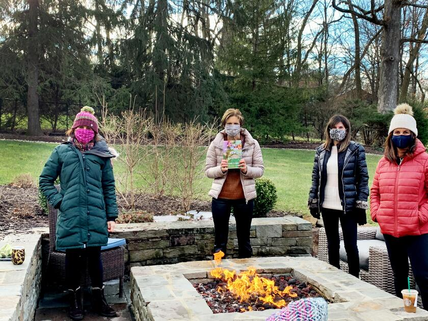 Laura Zinn Fromm's small bookclub meets in a backyard during COVID