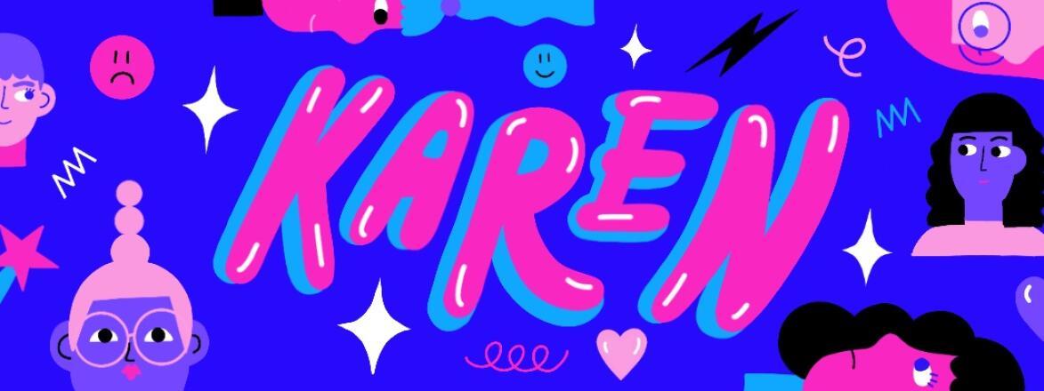 illustration, typography, Karen