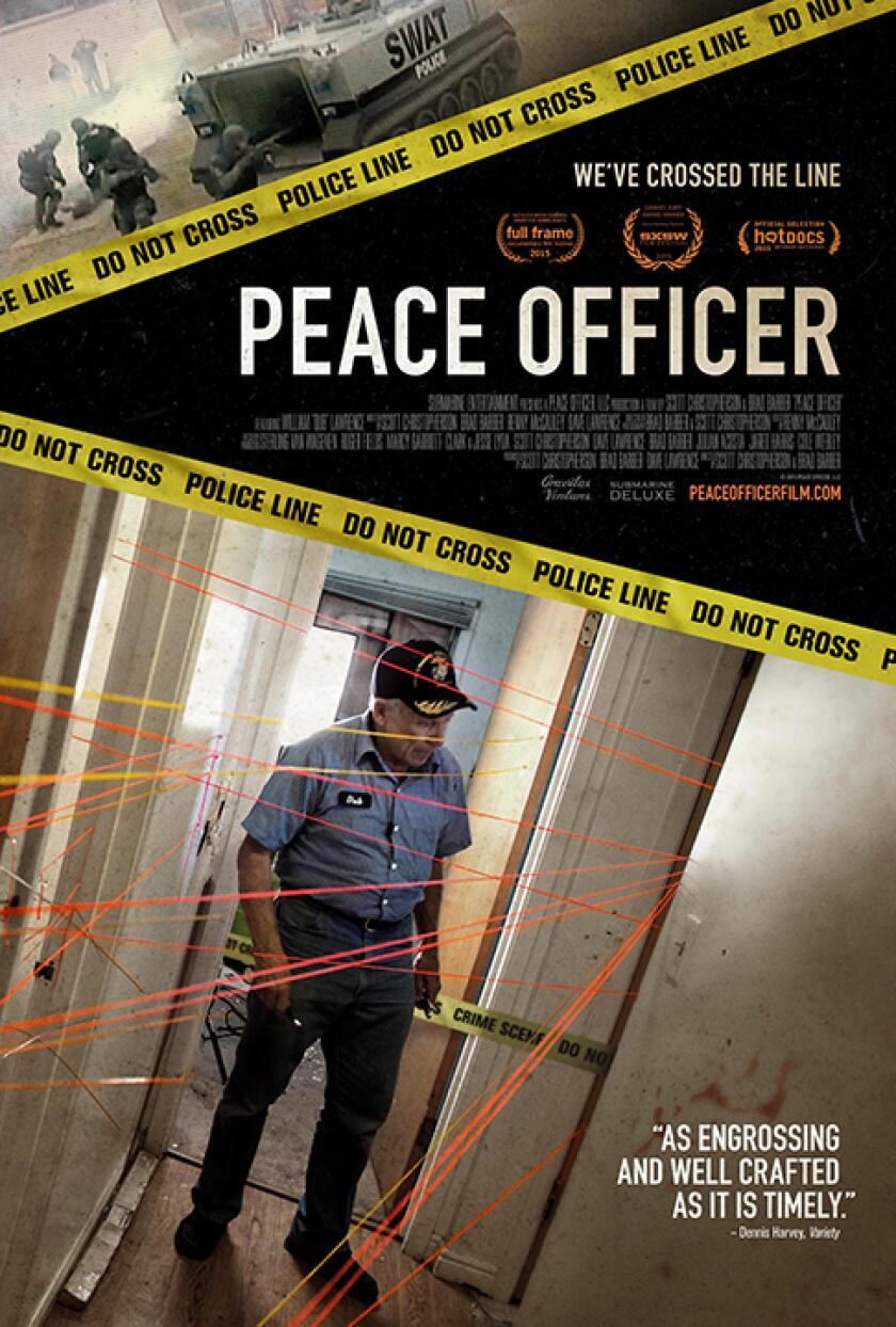 PEACE OFFICER, US poster, William J. 'Dub' Lawrence, 2015. ©Gravitas Ventures/Courtesy Everett