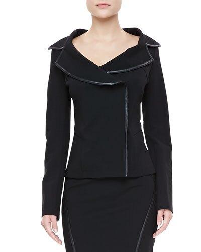 DK Leather Trim Jacket