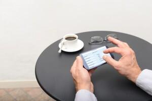 organizing finances on mobile app