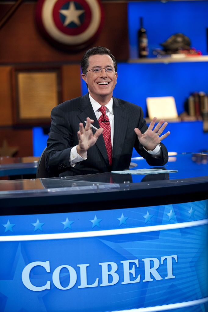 stephen colbert desk logo