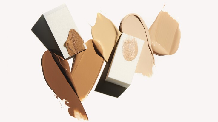 foundation swishes in a variety of flesh-tone colors from dark to light