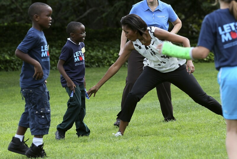 Michelle Obama Kicks Off South Lawn Series Of Summer Activities For Kids