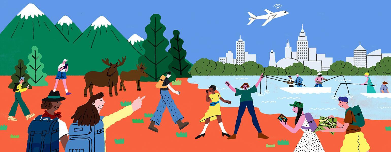 Travel Freebies, illustration, aarp, girlfriend