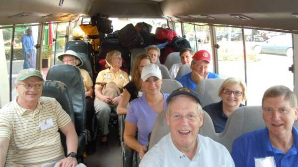 Rotary Volunteers on Bus