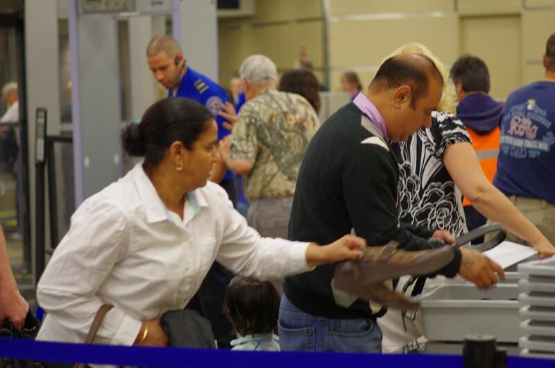 TSA checkpoint airport