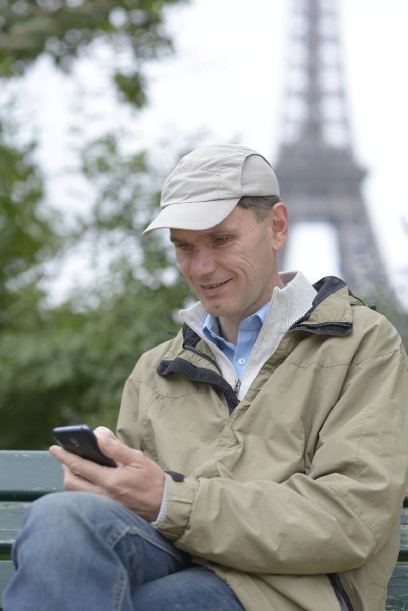 Tourist in Paris, France