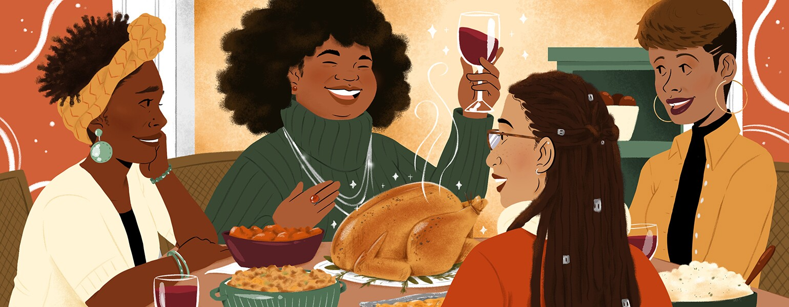 aarp, sisters, thanksgiving, holidays