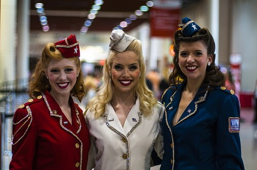 3 Flight Attendants