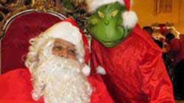 Santa and the Grinch