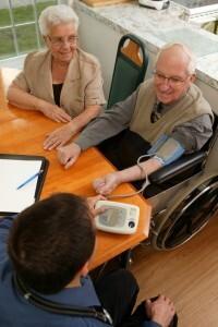 Nurse Practitioner with Patient