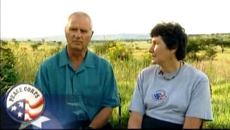 Volunteers Tom and Brooke Nagle in South Africa