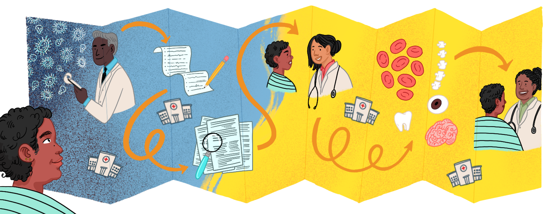 Healthcare, doctor, illustration, health, aarp, sisters