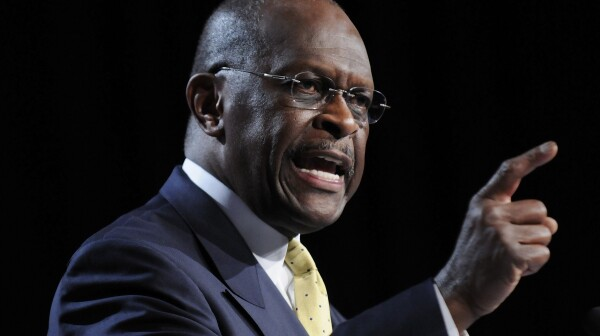 Cain speaks during remarks to the Family Research Council's Values Voters Summit in Washington