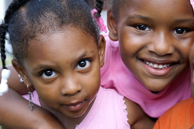 Two young African American girls