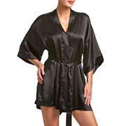 Kimono satin robe