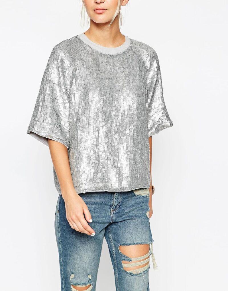 Asos Sequin Sweat Shirt