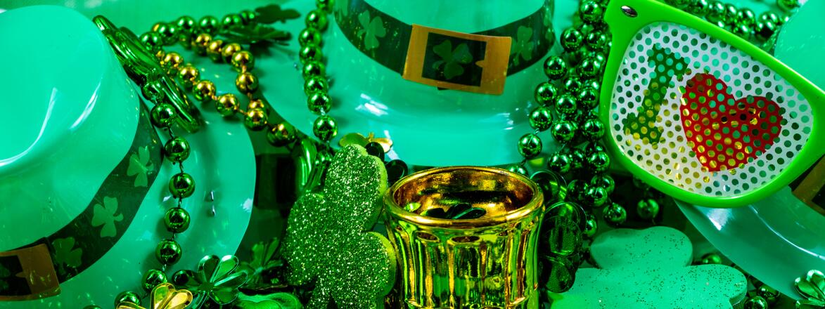 Colourful St. Patricks Day decorations