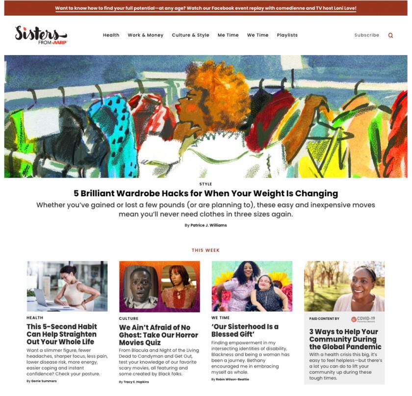 sisters homepage