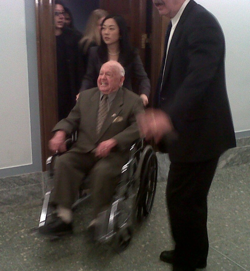 wheelchair leaving hearing