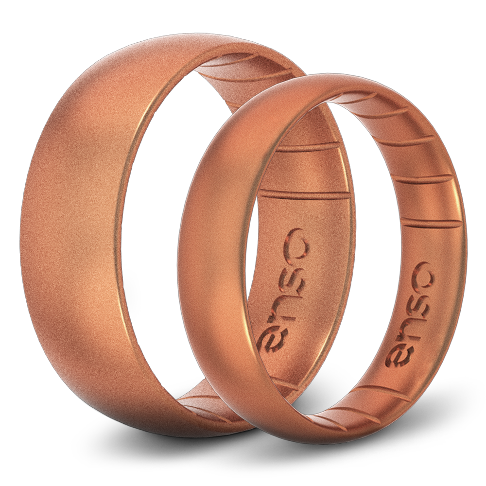 AARP, The Girlfriend, Enso RIngs, Rubber wedding rings, wedding bands