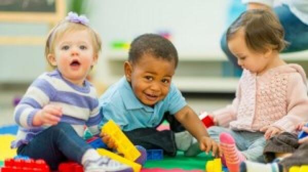 Babies playing