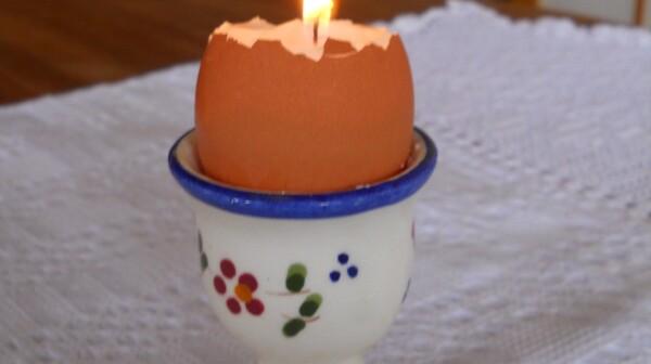eggshell candle