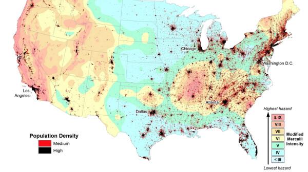 Mapa sísmico USGS
