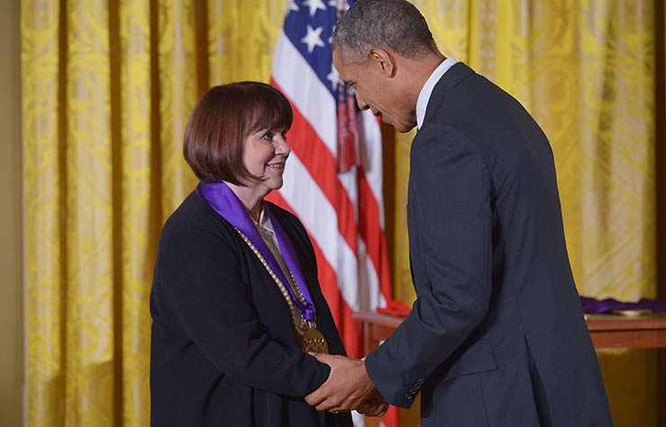 Linda Ronstadt and Barack Obama