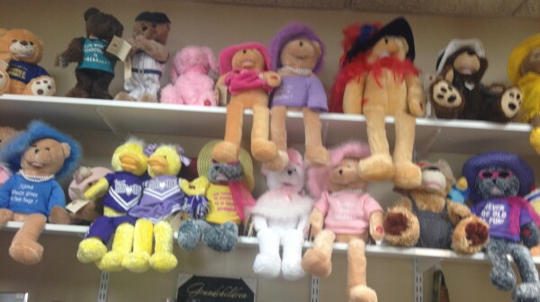 Shelves of stuffed animals sold at nursing home gift shop