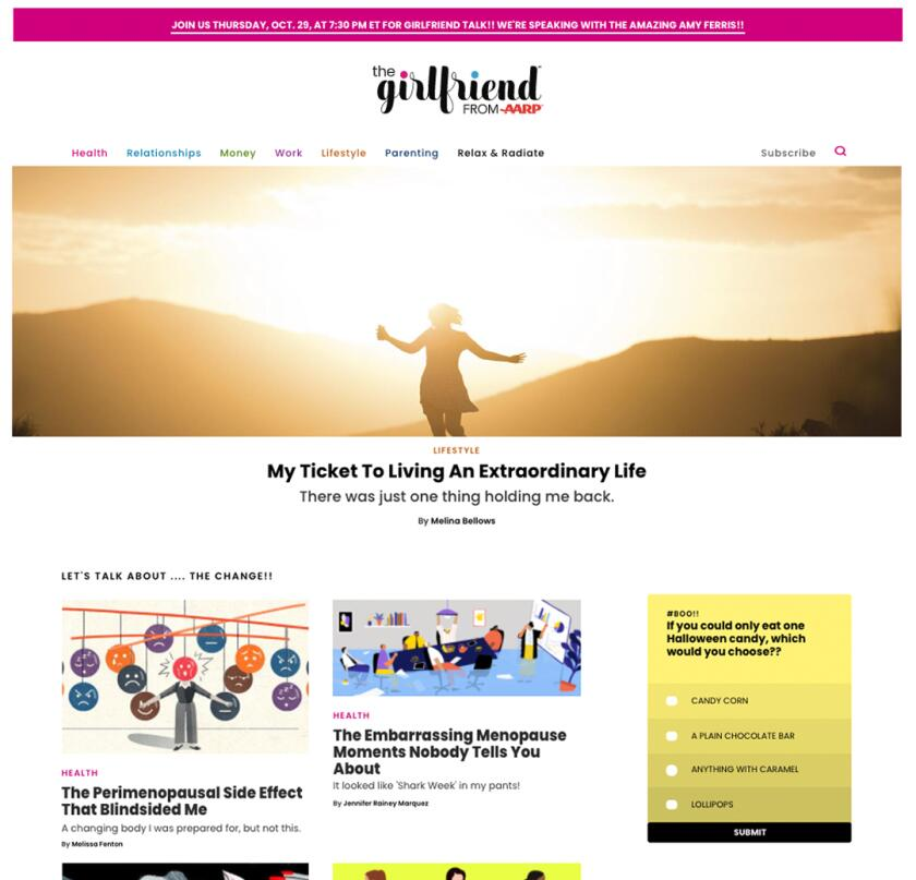Girlfriend homepage