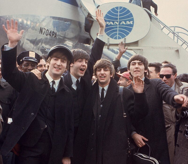 Beatles arrive at JFK New York in 1964