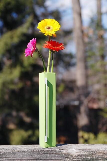 iPad 2 Smart Cover as bud vase
