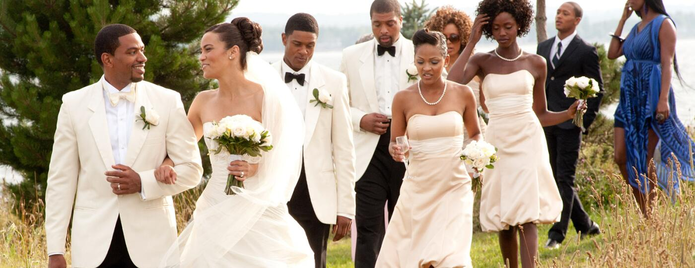 JUMPING THE BROOM, front, from left: Laz Alonso, Paula Patton, 2011. Ph: Jonathan Wenk/©TriStar Pict